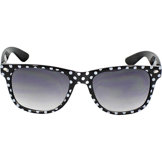 31a3900a75e Shop Women s Black  White Polka-dot Fashion Sunglasses - Black - Free  Shipping On Orders Over  45 - Overstock - 6641939