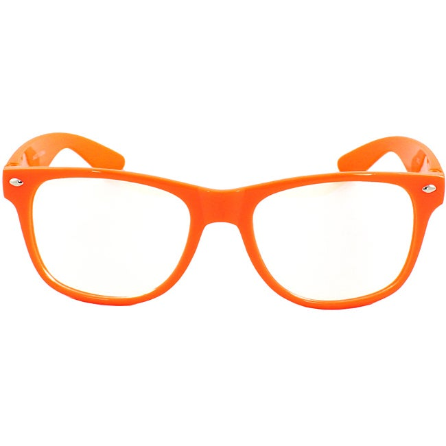 Unisex Orange Fashion Sunglasses