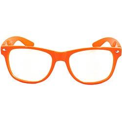 Unisex Orange Fashion Sunglasses