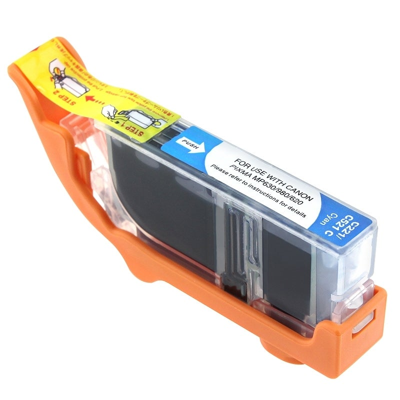Insten Cyan Non-OEM Ink Cartridge Replacement for Canon CLI-221C/ 221 C