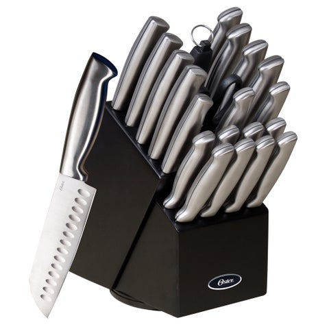 Oster Baldwyn 22-piece Stainless Steel Cutlery Block Set