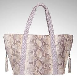 Vintage Reign Lavendar Embossed SnakeskinTote Bag