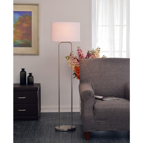 Design Craft Stills Brushed Steel 58-inch Floor Lamp