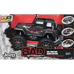 New Bright Remote Control 1:10-scale Bad Street Jeep Wrangler