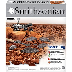 Smithsonian Childrens' 'Mars' Dig Play Set with Mars Rover Model Kit - Thumbnail 0