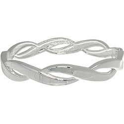Carolina Glamour Collection Silver Plated Elegant Weaved Bangle Bracelet