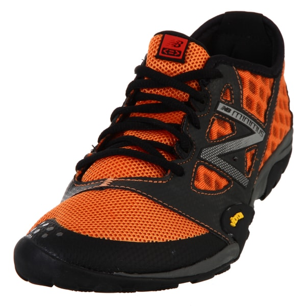 New Balance Men\u0026#39;s 20 Orange/ Grey Minimus Trail Running Shoe