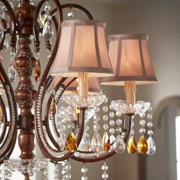Clarissa Tea Crystal Chandelier by iNSPIRE Q Classic - Free Shipping Today - Overstock.com - 14206610 & Clarissa Tea Crystal Chandelier by iNSPIRE Q Classic - Free ... azcodes.com