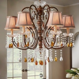 Clarissa Tea Crystal Chandelier by iNSPIRE Q Classic