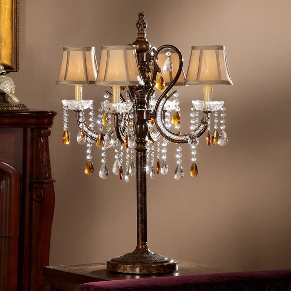 TRIBECCA HOME Clarissa Tea Crystal Table Lamp
