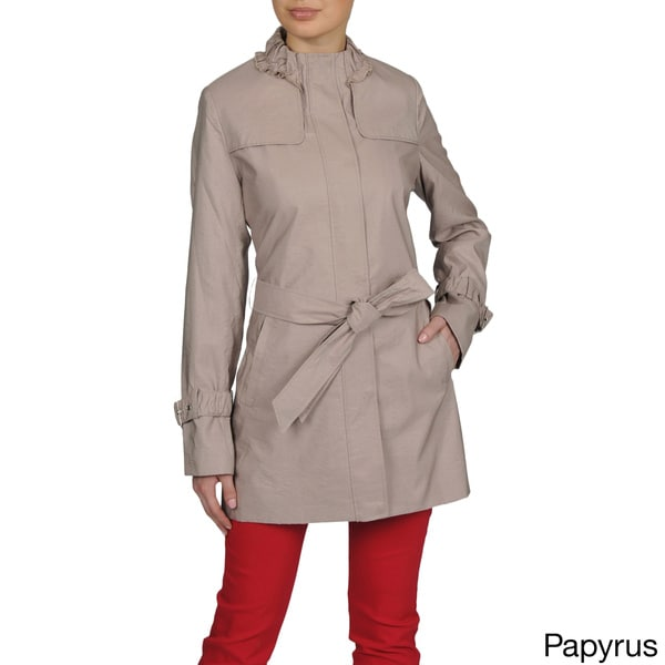 Tahari Spring Belted Trench Coat