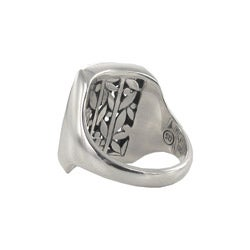 Sunstone Sterling Silver Bali Rectangle Filigree Ring - Thumbnail 1
