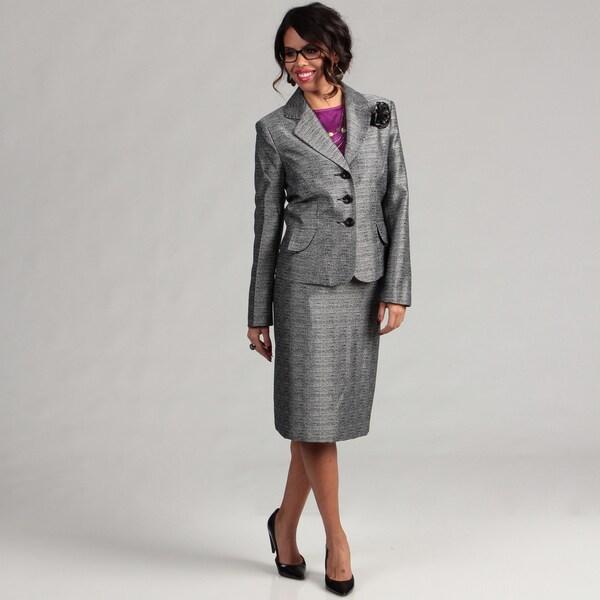 Danillo Women's Novelty Flower-embellished Skirt Suit