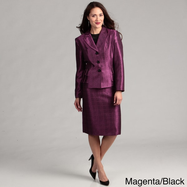 Danillo Women's Pleated Tier Skirt Suit