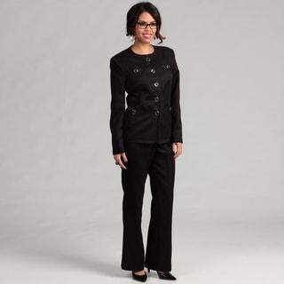Danillo Women's 4 Pocket Gold Hardware Pant Suit