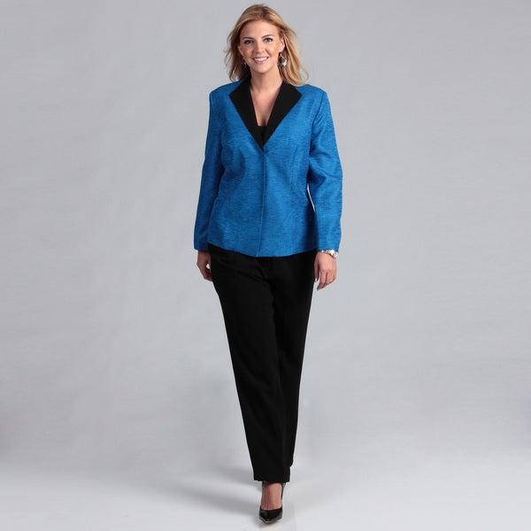 Danillo Women's Plus Size Space Dye Pant Suit