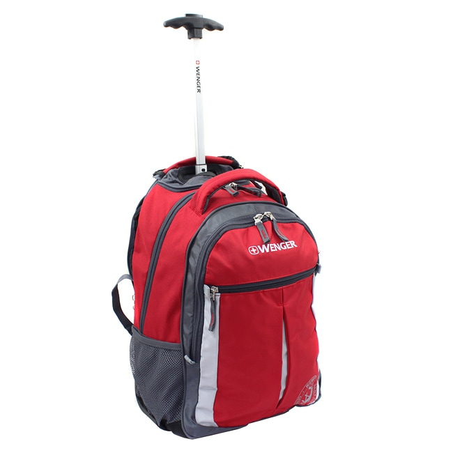 Wenger Swiss Gear Red 18-inch Rolling Carry-On Backpack - Thumbnail 0
