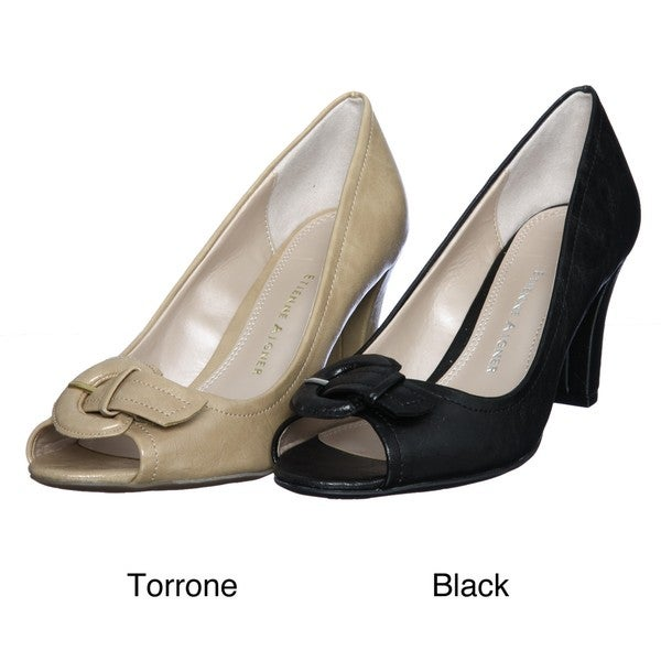 Etienne Aigner Women's 'E-Day' Peep-toe Pumps