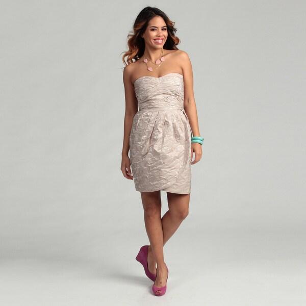 Max & Cleo Women's Sleeveless Pleated Bodice and Skirt Dress