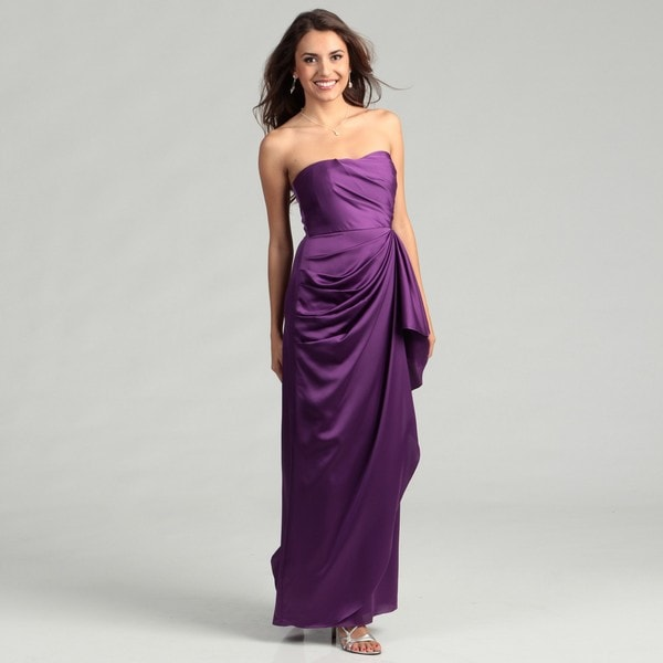 Max & Cleo Women's Lulu Strapless Side Drape Dress FINAL SALE