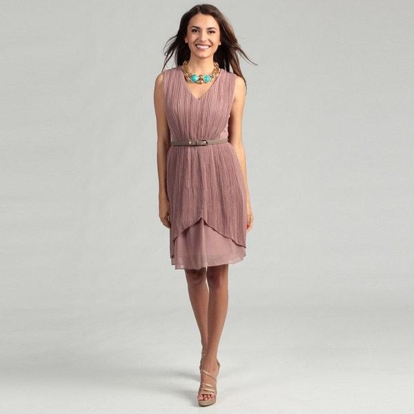 Max & Cleo Women's Lynn Shirred Overlay Dress