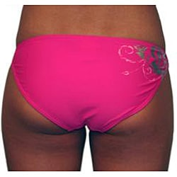 Lisabelle Women's 'Coming Up Roses' Side Ring Bikini Bottoms - Thumbnail 1