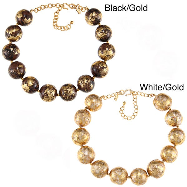 Kenneth Jay Lane Goldtone Bead Necklace