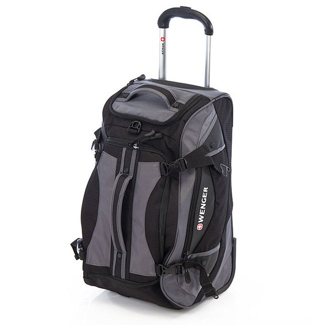 9564cb998c6c Shop Wenger Swiss Gear Black 24-inch Polyester Rolling Sport Duffle Bag -  Free Shipping Today - Overstock - 6644144