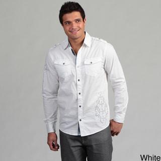 Modern Culture Men's Plaid Detail Woven Shirt