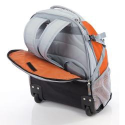Wenger Swiss Gear Orange 20-inch Rolling Carry-On Backpack - Thumbnail 1