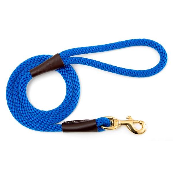 Mendota Blue Six-Foot Snap Pet Leash