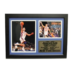 New York Knicks Jeremy Lin Photo Stat Frame