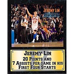 New York Knicks Jeremy Lin Stat Wall Plaque