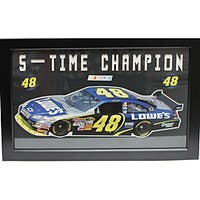 Jimmie Johnson 'Five-Time Champion' Custom Frame