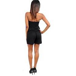 Stanzino Women's Black Halter Top Romper