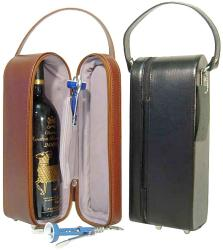 Amerileather Leather Single Wine Tote Bag (2 Colors) (2 options available)
