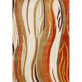 Alliyah Handmade Sand New Zealand Blend Wool Rug (5' x 8')