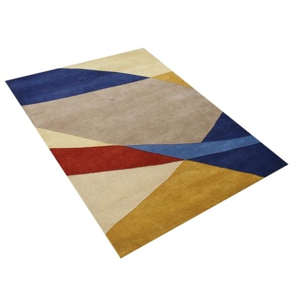 Hand-made New Zealand Wool Rug (5' x 8') - 5' x 8'