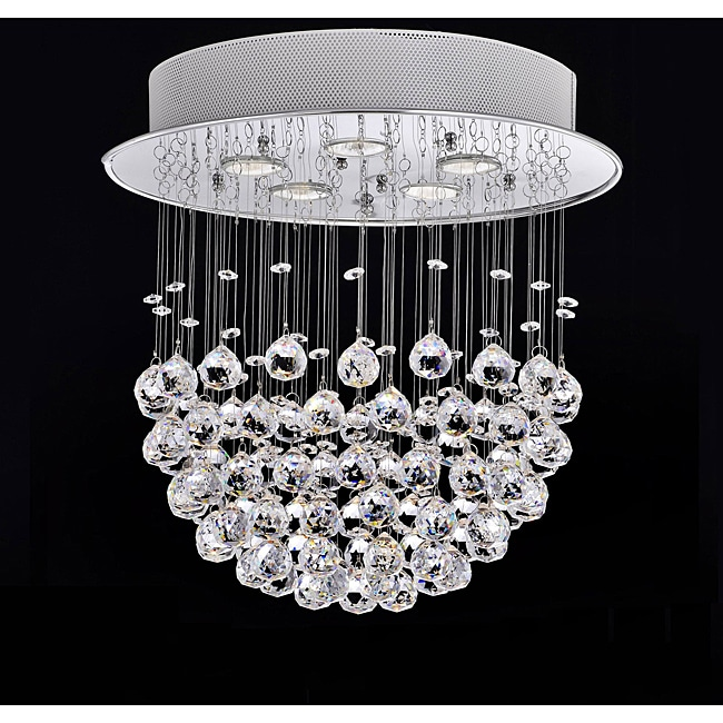 Crystal bowl 5 light chandelier free shipping today overstock crystal bowl 5 light chandelier aloadofball Image collections