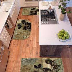 Gale Beige Three Piece Kitchen Rug Set Free Shipping On