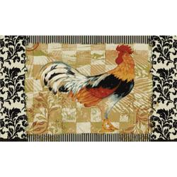 bergerac rooster three-piece kitchen rug set - free shipping today