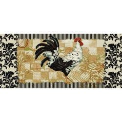 Bergerac Rooster Three-piece Kitchen Rug Set - Thumbnail 2