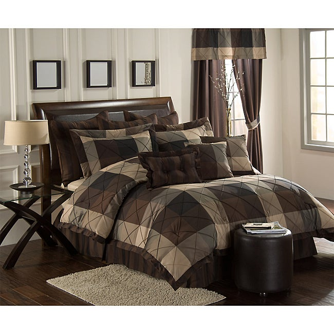VCNY Carlton 10-piece Oversized Queen Comforter Set - Thumbnail 0