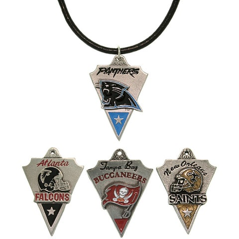 Carolina Glamour Collection Pewter Unisex NFC South Team Licensed NFL Pennant Necklace