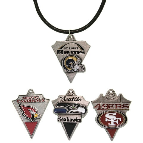 Carolina Glamour Collection Pewter Unisex NFC West Team Licensed NFL Pennant Necklace