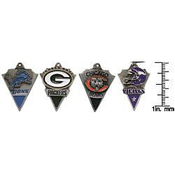 Carolina Glamour Collection Pewter Unisex NFC North Team Licensed NFL Pennant Necklace