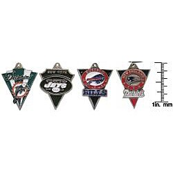 Carolina Glamour Collection Pewter Unisex AFC East Team Licensed NFL Pennant Necklace