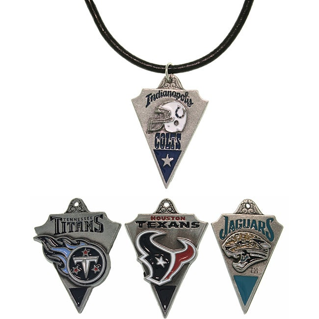 Carolina Glamour Collection Pewter Unisex AFC South Team Licensed NFL Pennant Necklace - Thumbnail 0