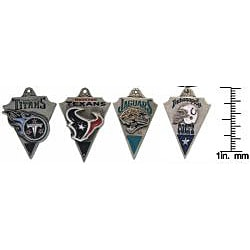 Carolina Glamour Collection Pewter Unisex AFC South Team Licensed NFL Pennant Necklace - Thumbnail 2