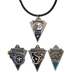 Carolina Glamour Collection Pewter Unisex AFC South Team Licensed NFL Pennant Necklace|https://ak1.ostkcdn.com/images/products/6648639/CGC-Pewter-Unisex-AFC-South-Team-Licensed-NFL-Pennant-Necklace-P14210730.jpg?impolicy=medium